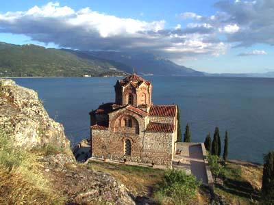 Охридское озеро. Церковь Св. Иоанна Богослова